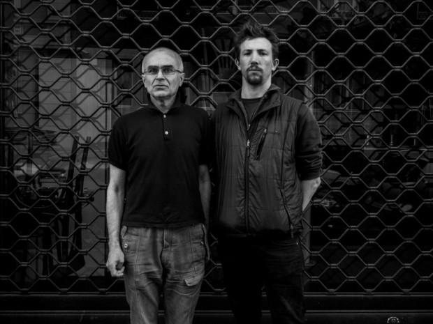 Andrea Rocchelli (right) with Andrey Mironov. Image © Cesura/Gabriele Micalizzi